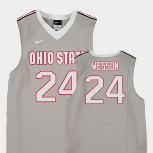 Andre Wesson OSU Jersey College Basketball Gray #24 Replica Youth
