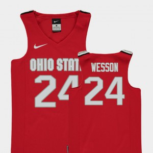 College Basketball Kids #24 Red Andre Wesson OSU Jersey Replica