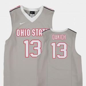 #13 Gray Youth Andrew Dakich OSU Jersey Replica College Basketball