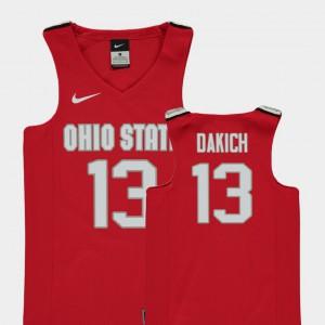 Replica Andrew Dakich OSU Jersey Red #13 Kids College Basketball