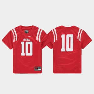 Ole Miss Jersey Replica Red Youth #10 Football