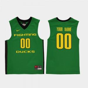 Green College Basketball #00 Youth Replica Oregon Custom Jerseys