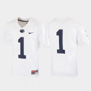 Football White Youth(Kids) Untouchable #1 Penn State Jersey