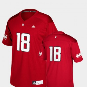 Scarlet #18 College Football Replica Rutgers Jersey Youth