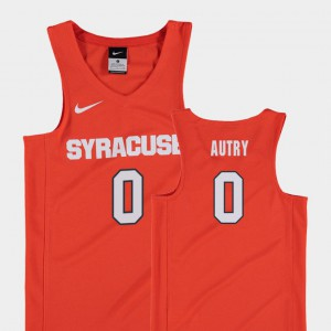 Orange Replica College Basketball #0 Adrian Autry Syracuse Jersey Youth