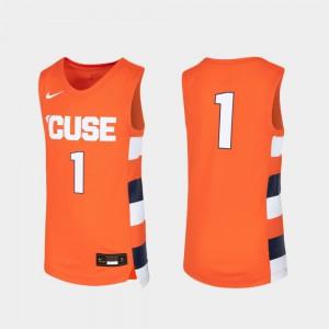 Syracuse Jersey #1 Orange Kids Replica Basketball