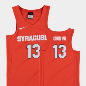 College Basketball Paschal Chukwu Syracuse Jersey Replica Orange #13 Youth(Kids)