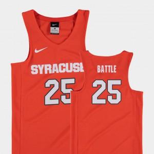 Tyus Battle Syracuse Jersey #25 Orange College Basketball Replica Kids