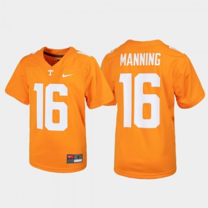 Peyton Manning UT Jersey Tennessee Orange #16 Alumni Football Game Youth
