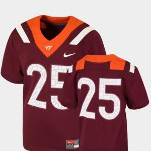 College Football Maroon Team Replica #25 Youth Virginia Tech Jersey