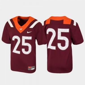 #25 Football Virginia Tech Jersey Kids Maroon Untouchable