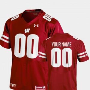 College Football Red #00 Kids 2018 Replica Wisconsin Custom Jerseys